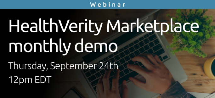 HealthVerity Marketplace Monthly Demo - September